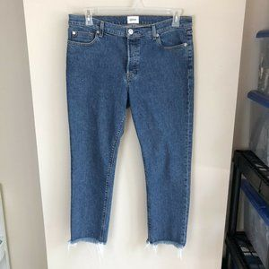 Hudson light wash luxe Riley crop jeans no stretch